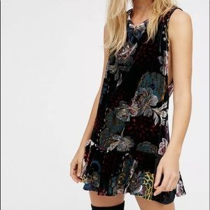 Free People burnout mini dress Large.